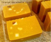 Orange makadamia chips
